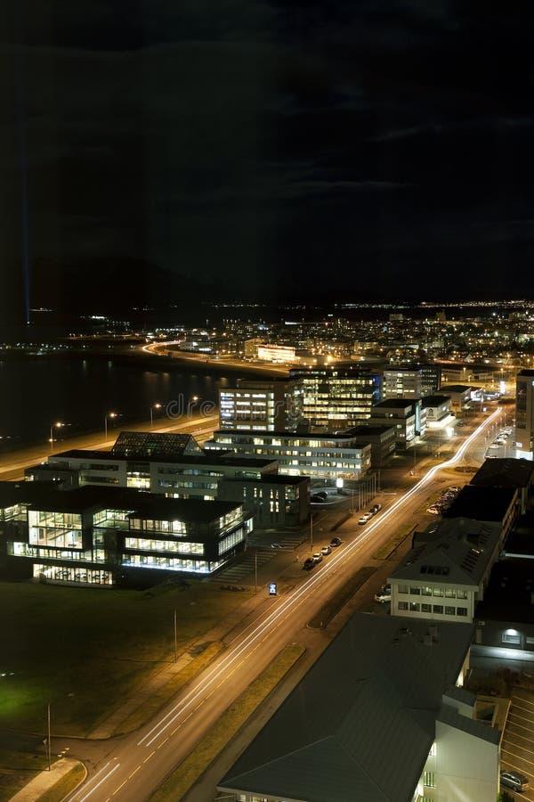 Distretto finanziario dell'orizzonte di Reykjavik immagine stock libera da diritti