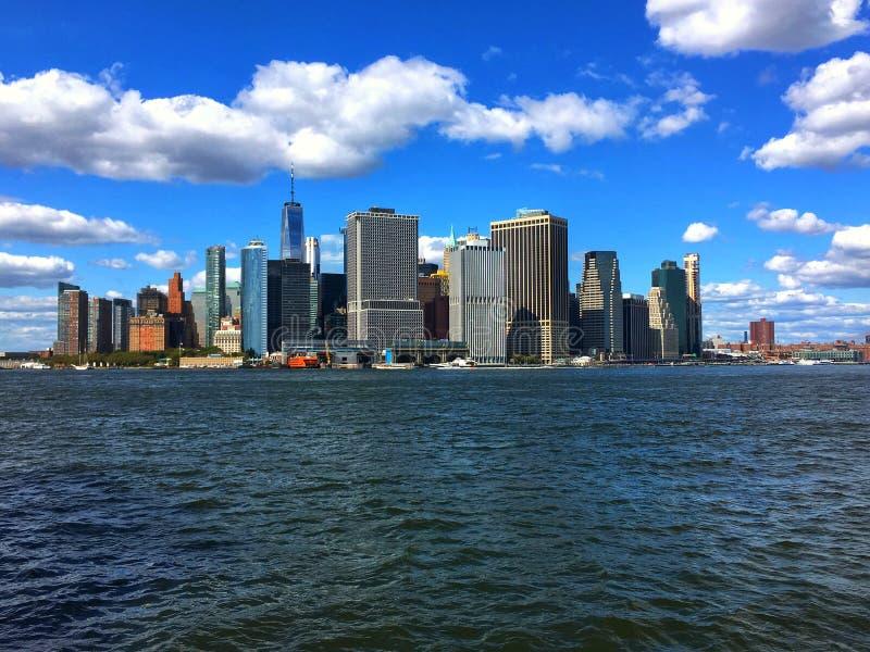 Distretto finanziario di Manhattan a New York immagine stock