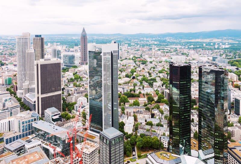 Distretto finanziario a Francoforte immagini stock libere da diritti