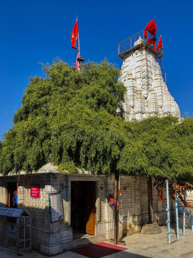 Distretto Gujarat, India di Mehsana del tempio di Bahucharaji o di Becharaji fotografia stock libera da diritti