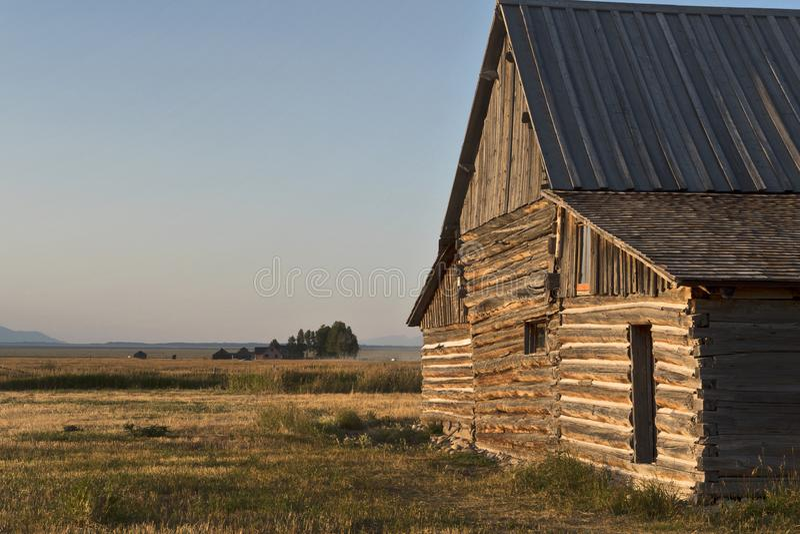 Distretto storico di fila mormonica, grande parco nazionale di Teton, Wyoming, U.S.A. fotografie stock libere da diritti