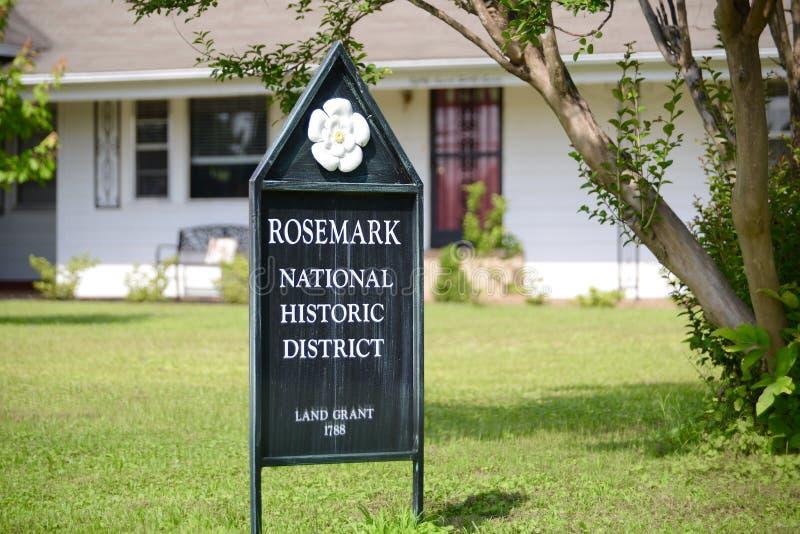 Distretto storico nazionale di Rosemark, Tennessee fotografie stock