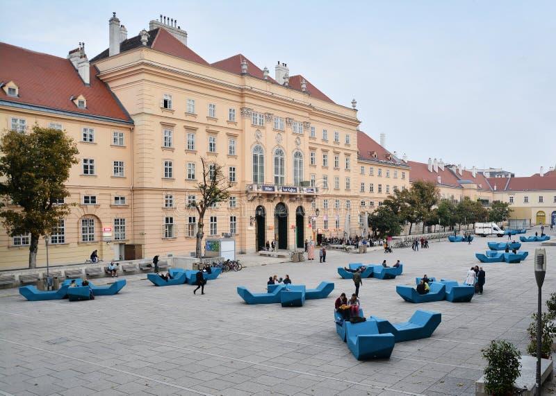 Distretto Vienna di Museumsquartier immagini stock libere da diritti