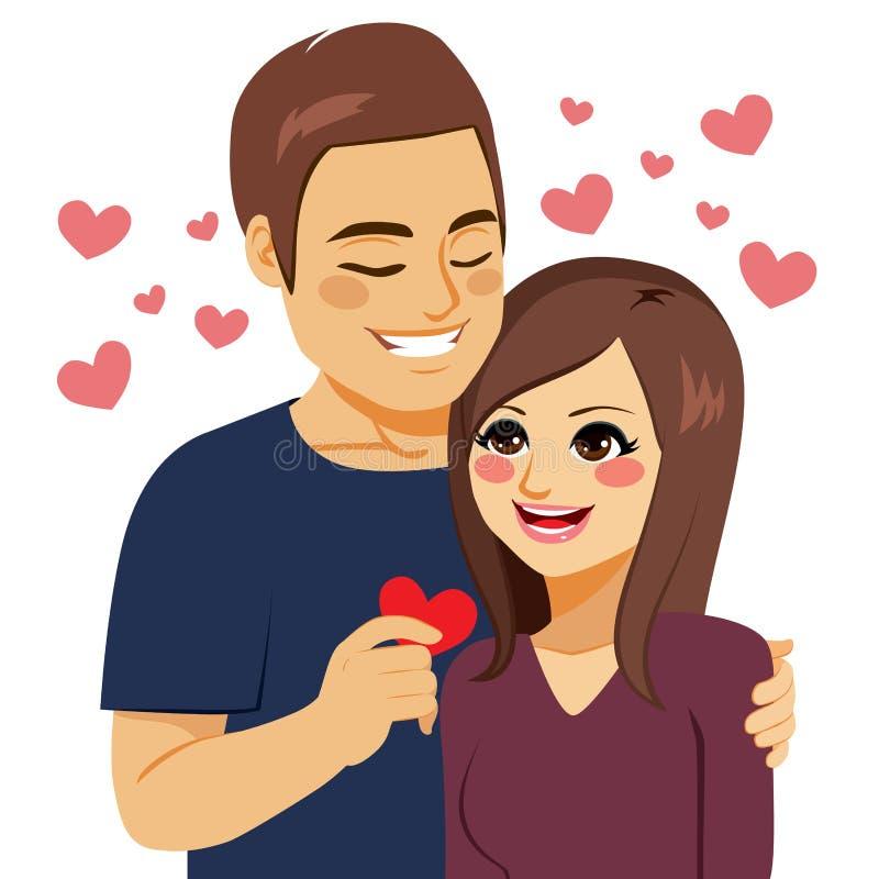 Distribución de amor del corazón ilustración del vector