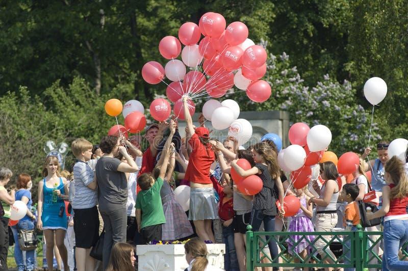Distribución de baloons foto de archivo