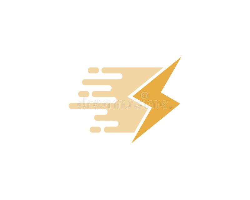 Distribución de energía Logo Icon Design stock de ilustración