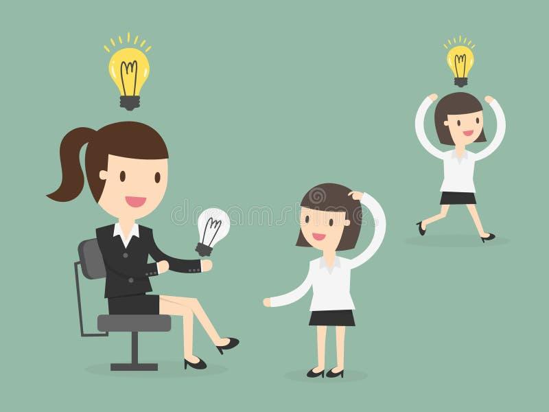 Distribución de ideas stock de ilustración