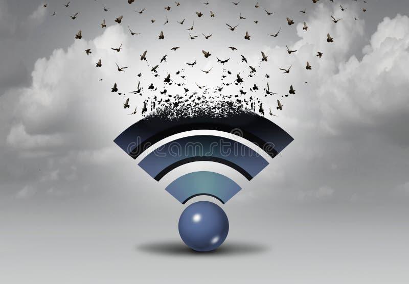 Distribución de la radio de Wifi libre illustration