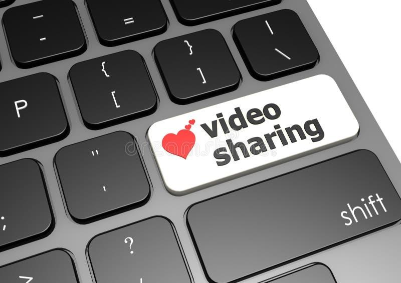 Distribución video ilustración del vector