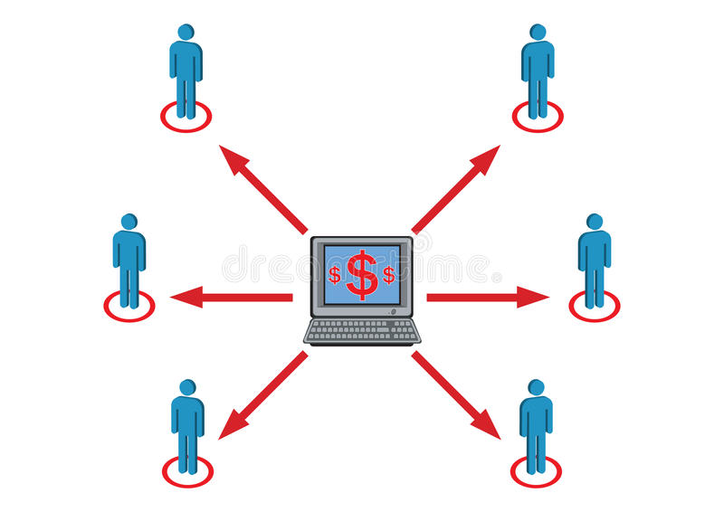 Distribuição da riqueza para prover de pessoal a ilustração ilustração stock