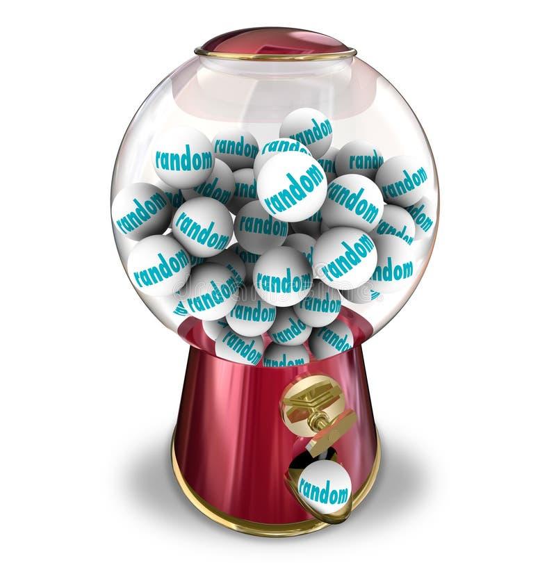 Distribuidor aleatório da máquina de Gumball da sorte da possibilidade ilustração stock