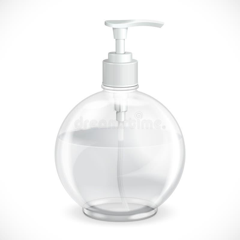 Distribuidor do gel, da espuma ou do sabão líquido ilustração do vetor