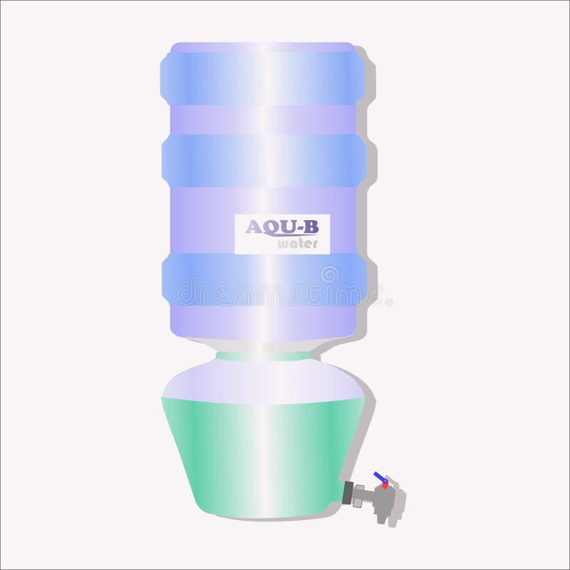 Distribuidor do vetor e galão da água ilustração royalty free