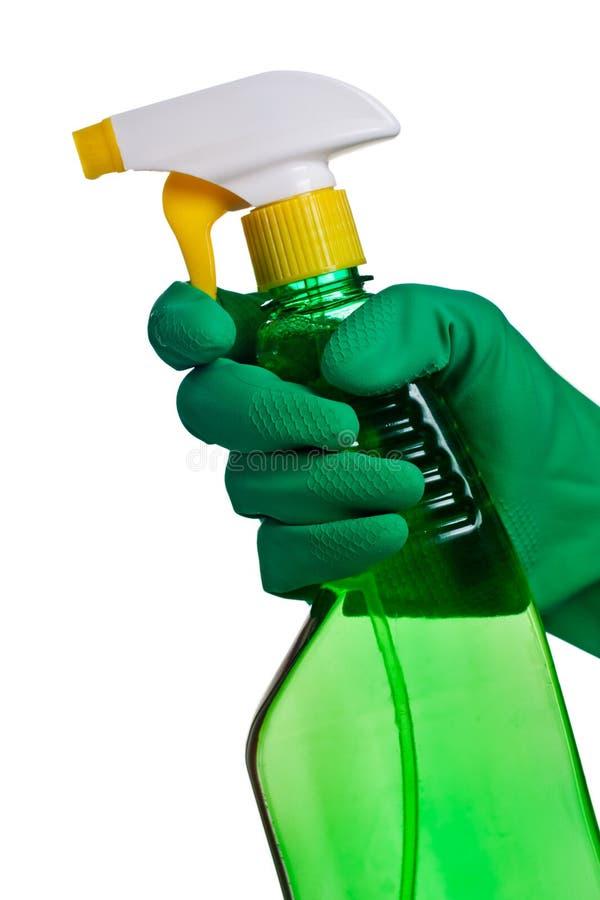 Distribuidor plástico verde imagem de stock