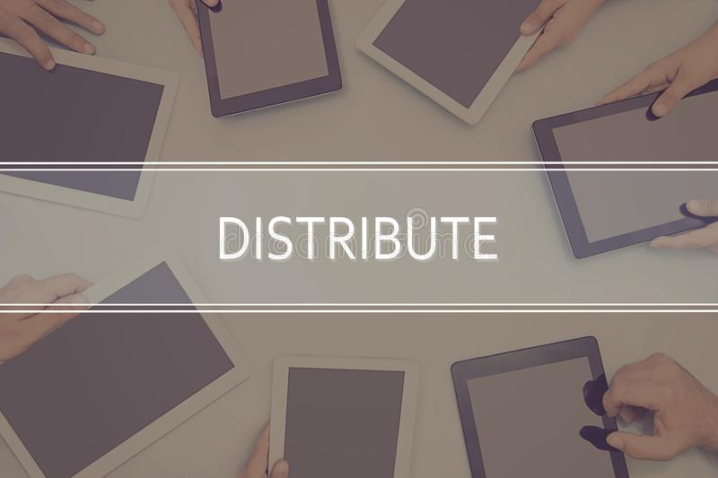 DISTRIBUTE CONCEPT Business Concept. royalty free stock photography