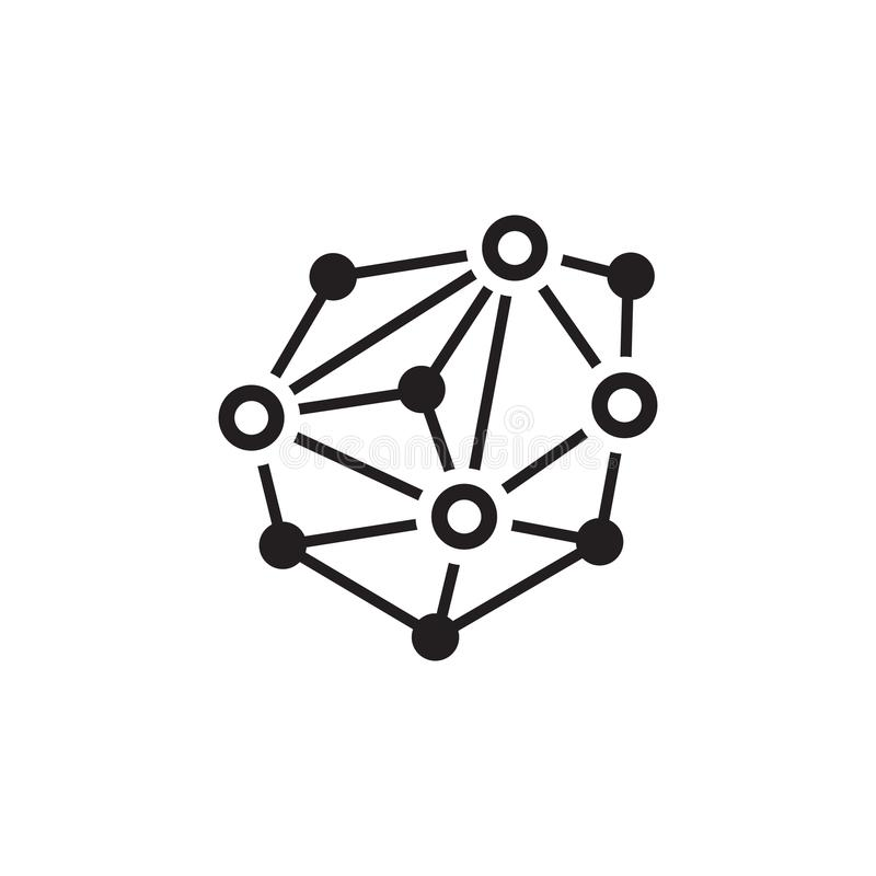 Distributed Network Icon. stock illustration