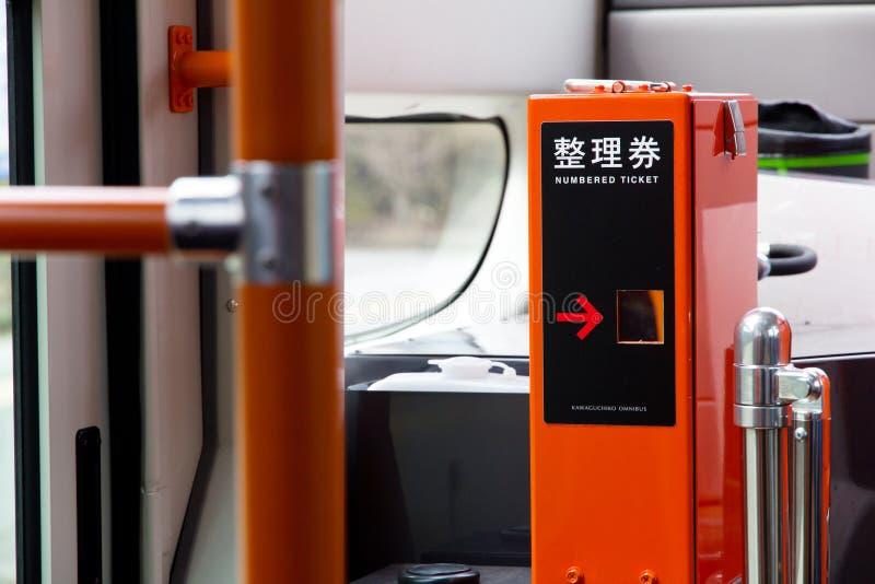 distributeur automatique de billet sur l 39 autobus photo stock image du train urbain 40387340. Black Bedroom Furniture Sets. Home Design Ideas
