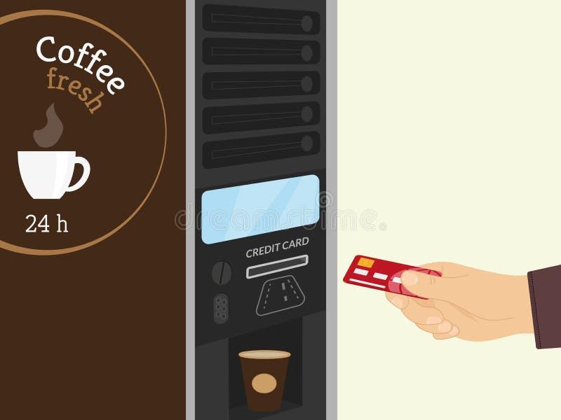 Distributeur automatique de café illustration libre de droits