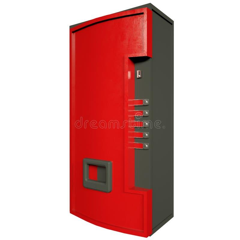Distributeur automatique vendant des boissons et des casse-cro?te sur un fond blanc Front View rendu 3d illustration de vecteur