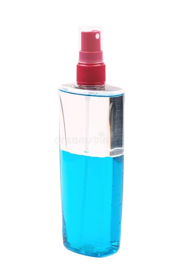 Distributeur en plastique de bouteille de flacon d'isolement photo stock