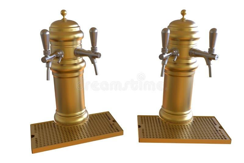 Distributeurs d'or de bière illustration de vecteur
