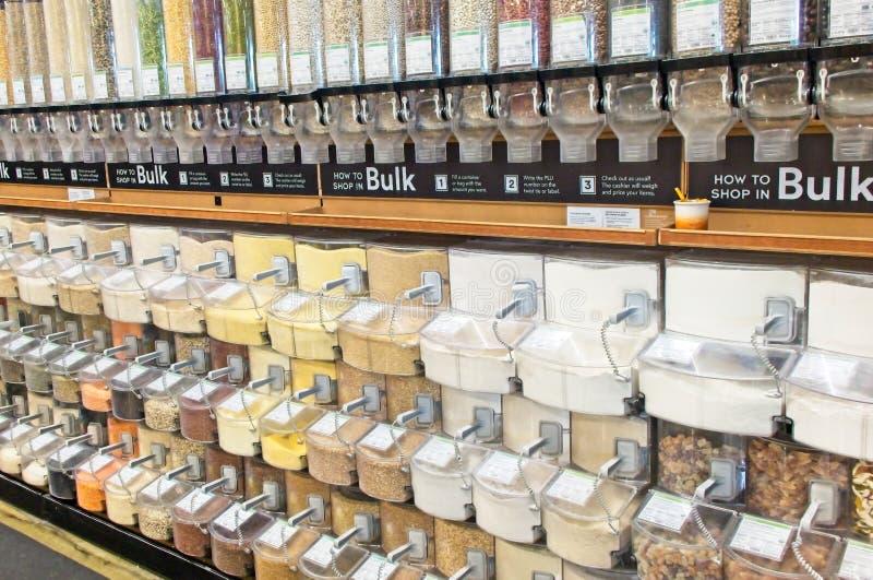 Distributeurs en vrac de nourriture image libre de droits