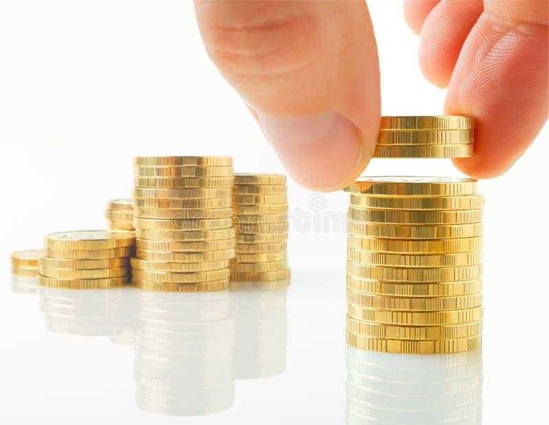 Distributie van financiële activa. royalty-vrije stock fotografie