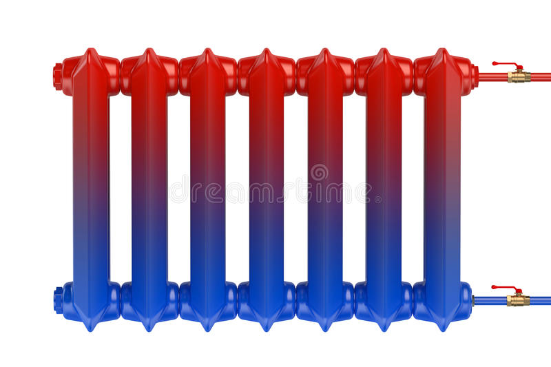 Distributie van hittestroom in de gietijzer het verwarmen radiator vector illustratie