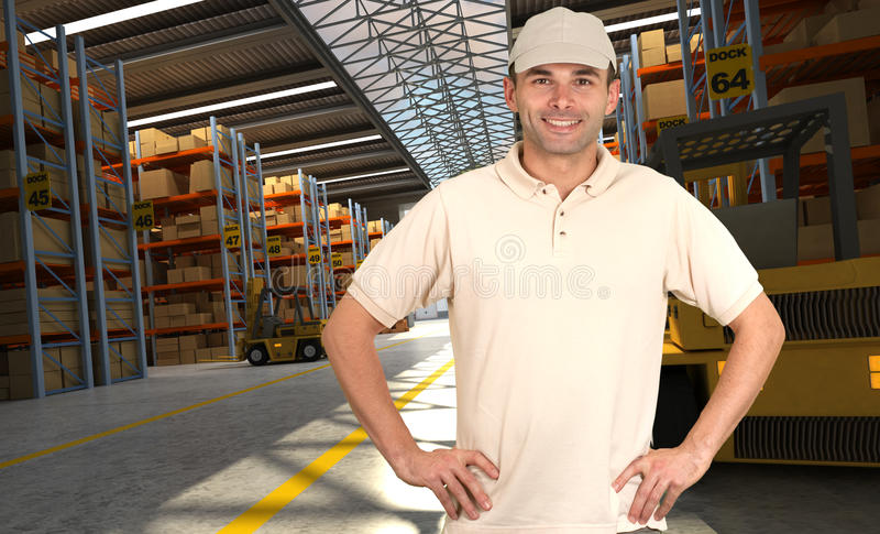 Distribution center royalty free stock photography