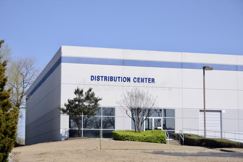 Distribution Center. A distribution center is a staging area for commercial goods and products to be received and shipped to commercial and private retailers for stock photos