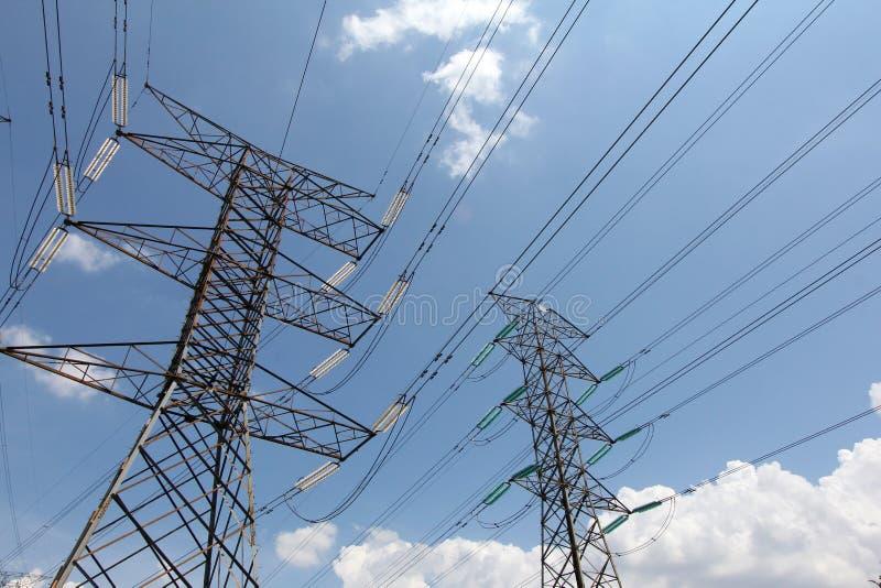 Distribution d'énergie de grille des câbles - série 5 photos libres de droits