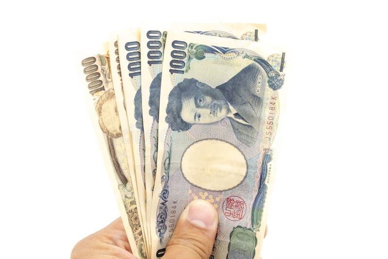 Distribution de l'argent du Japon photos stock