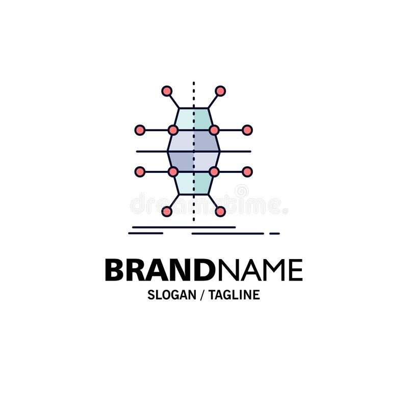 Distribution, grid, infrastructure, network, smart Flat Color Icon Vector royalty free illustration