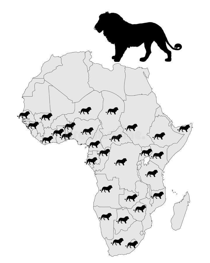 Download Distribution lion stock vector. Image of animal, lion - 18714086