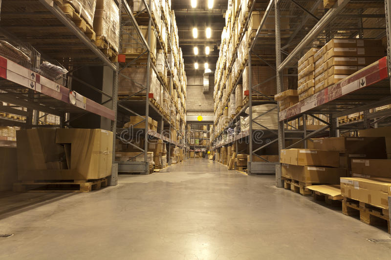 Download Distribution warehouse stock image. Image of goods, high - 21967531