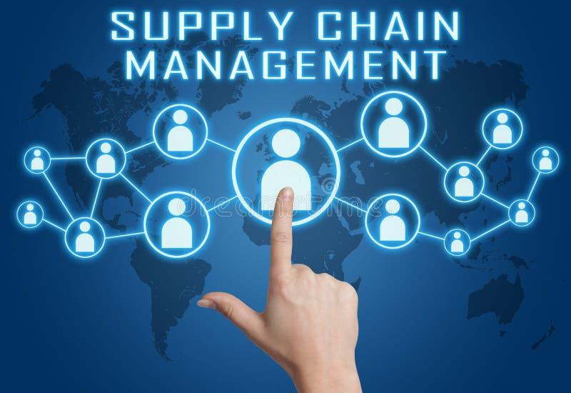 Distributionskedjaledning stock illustrationer