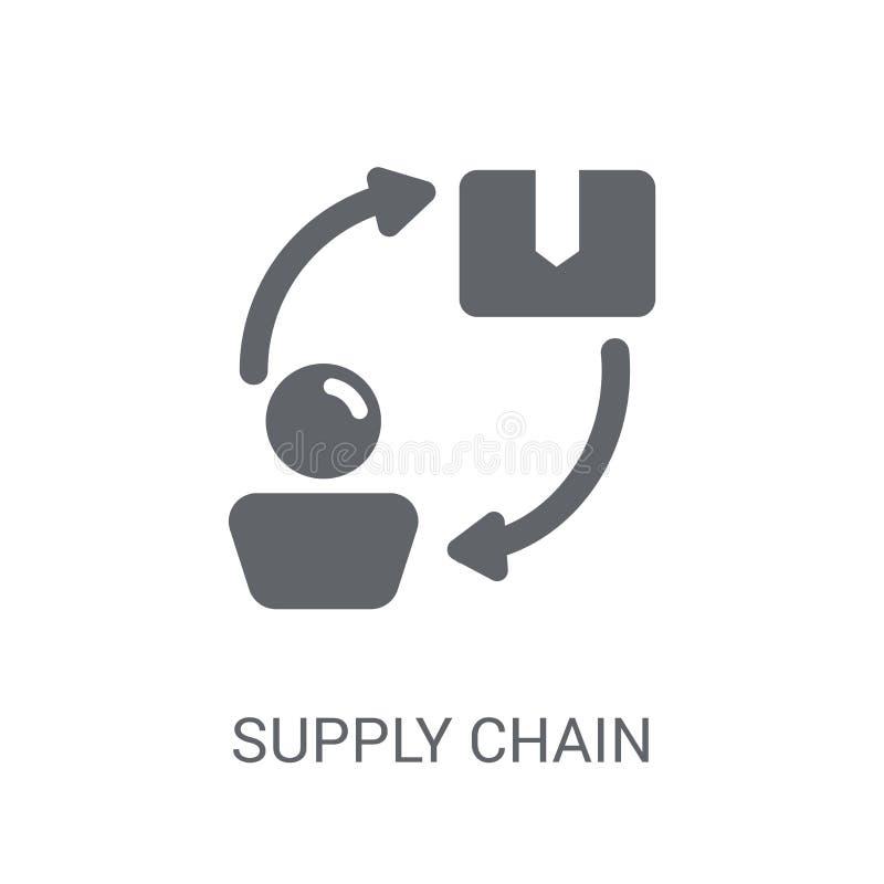 Distributionskedjasymbol  royaltyfri illustrationer