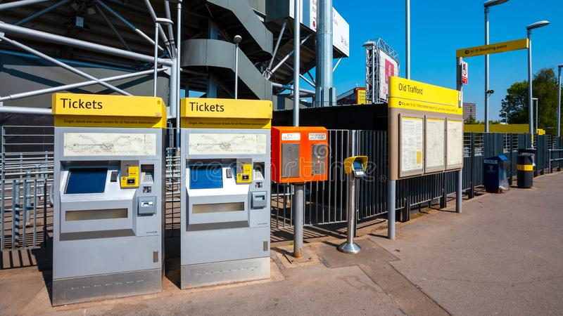 Distributore automatico del biglietto per Manchester Metrolink immagine stock
