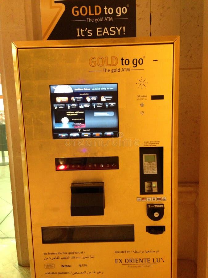 Distributore automatico dell'oro dei UAE Dubai fotografia stock
