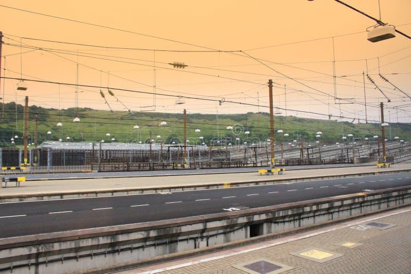 Distributore di benzina di Eurotunnel immagine stock