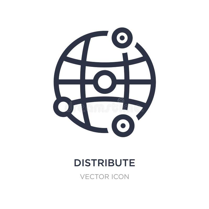distribuya el icono en el fondo blanco Ejemplo simple del elemento del concepto del establecimiento de una red ilustración del vector