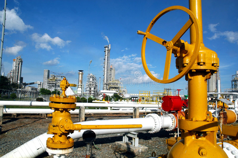 Distribuzione del gas immagine stock