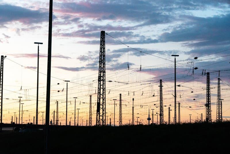 Distribuzione di corrente elettrica fotografie stock