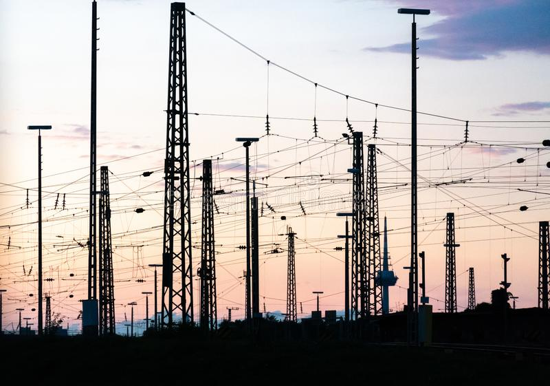 Distribuzione di corrente elettrica immagine stock libera da diritti