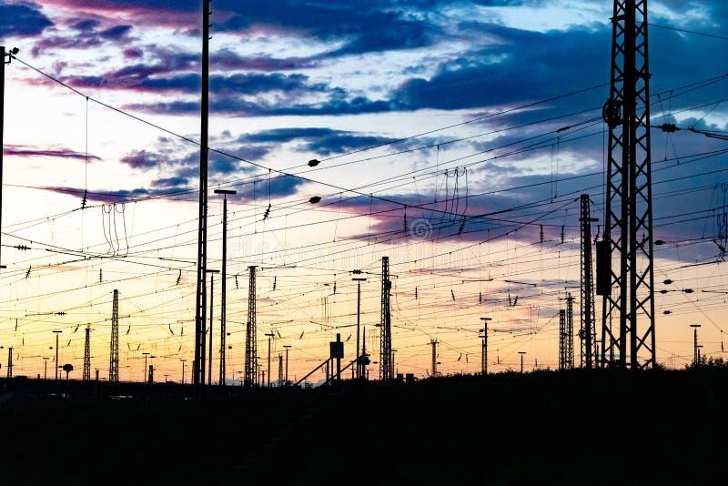 Distribuzione di corrente elettrica immagini stock
