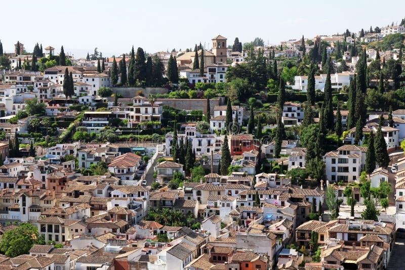 District Albayzin in Granada, Spanje stock foto