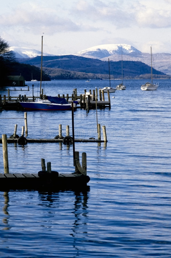District anglais de lac de lacs lake photos stock
