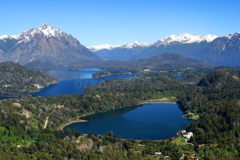 District argentin de lac image stock