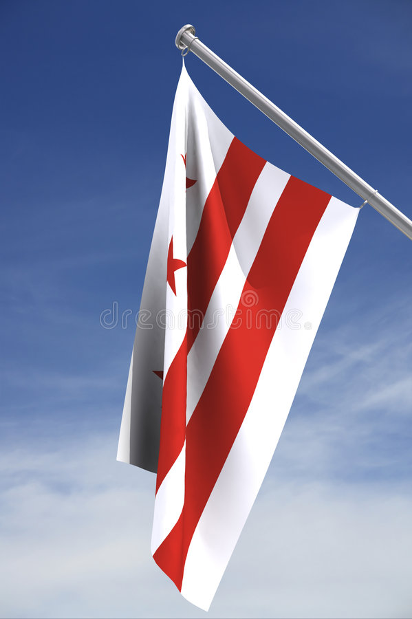 District of Colombia flag stock images