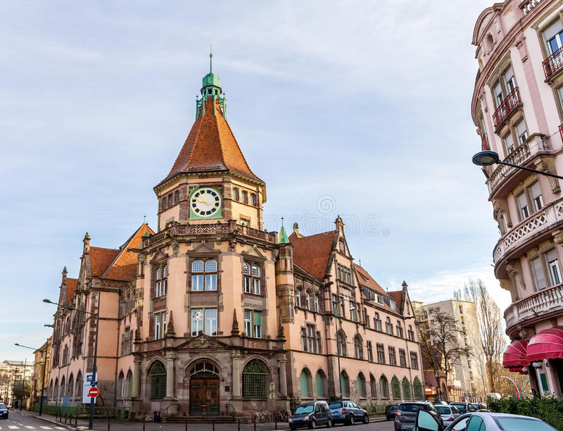 District Court of Mulhouse - France. District Court of Mulhouse - Alsace, France stock photography
